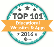 Congratulations on being named an Educents Top 101 Educational Website of 2016!