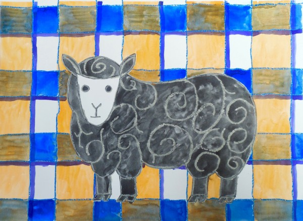 Level I-Lesson 11: The Sheep From Wales (Online Art Lessons for Kids | ArtAchieve)