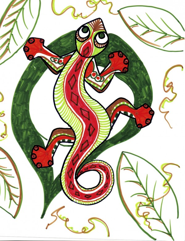 Level I-Lesson 4: The Haitian Gecko (Online Art Lessons for Kids | ArtAchieve)