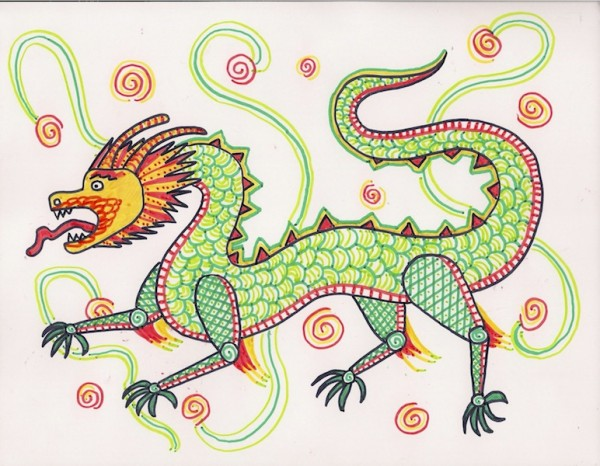Level I-Lesson 6 The Chinese Dragon (Online Art Lessons for Kids | ArtAchieve)