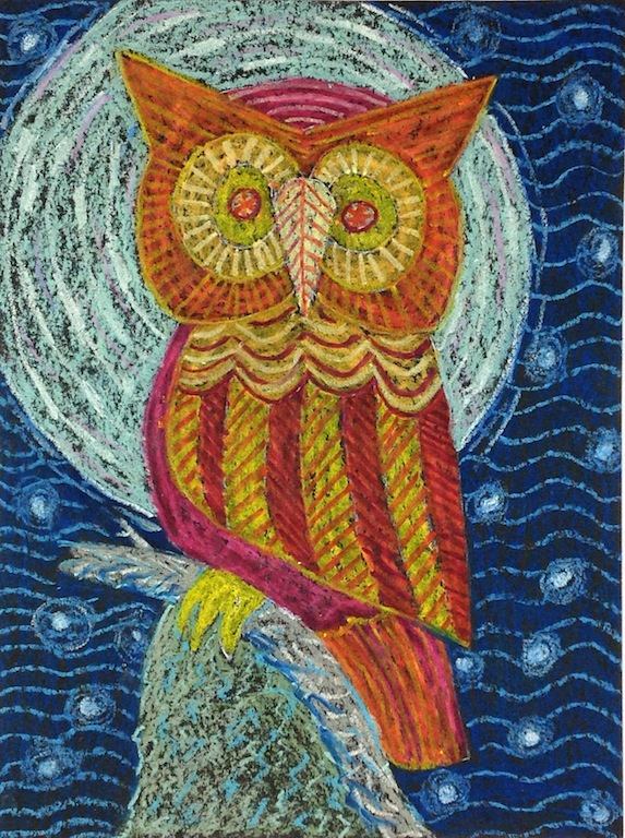 Level I-Lesson 7: The Owl From Bali (Online Art Lessons for Kids | ArtAchieve)