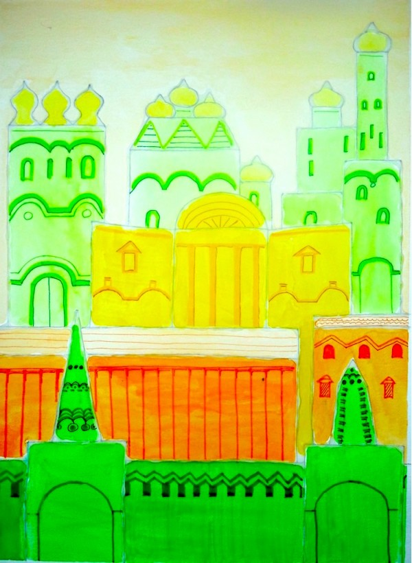 Level II-Art Lesson 12: The Russian Fortress--Color Value and Analogous Colors