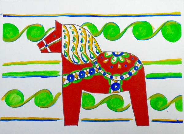 Level II-Art Lesson 1: The Swedish Dala Horse