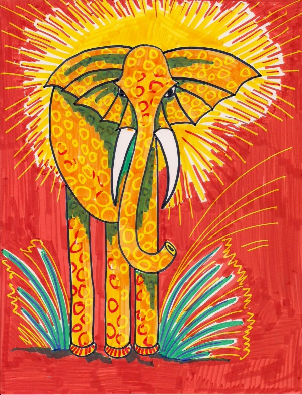 Level II-Art Lesson 4: The Elephant from Ghana