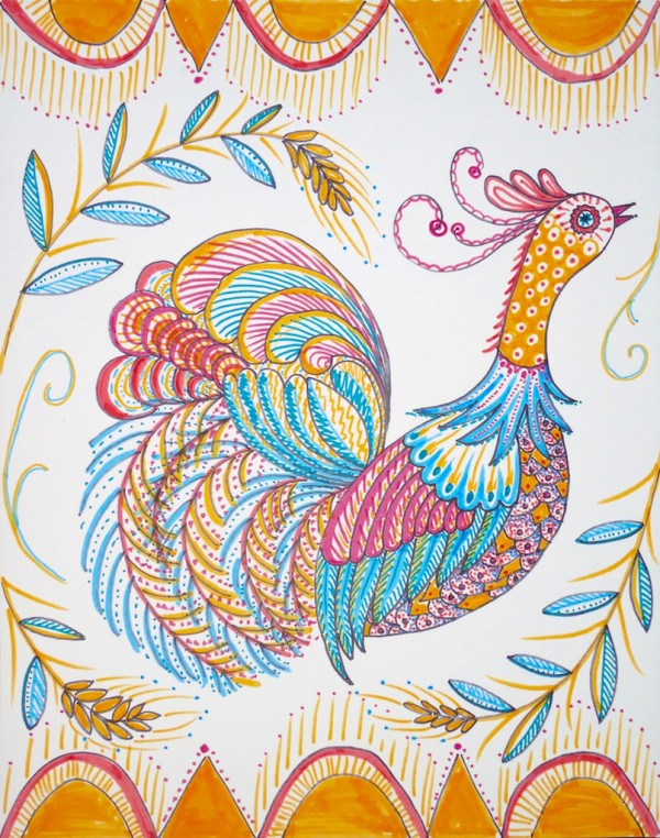 Level II-Art Lesson 9: The Ukrainian Rooster