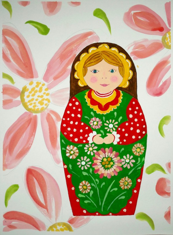 Level III-Lesson 10: The Russian Matryoshka (Online Art Lessons for Kids | ArtAchieve)
