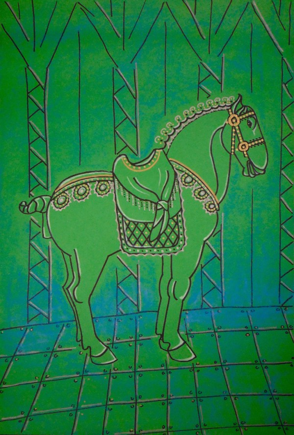 Level IV-Lesson 2: The Chinese Horse (Online Art Lessons for Kids | ArtAchieve)