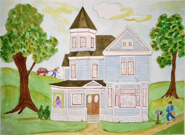 Level V-Art Lesson 4: Grandma Moses and the Queen Anne House