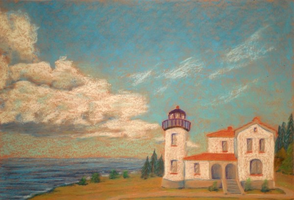 Level V-Art Lesson 8: The Whidbey Island Lighthouse With Clouds