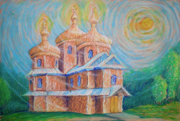 Level V-Art Lesson 2: The Carpathian Church: Painting in the Style of Van Gogh