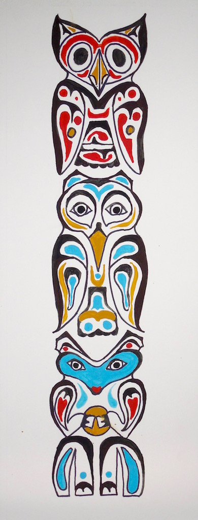 Level III-Lesson 5: The Pacific Northwest Totem Pole (Online Art Lessons for Kids | ArtAchieve)