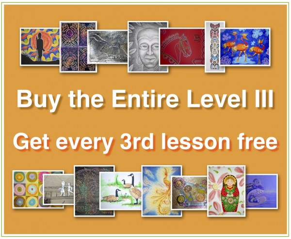 ENTIRE Level III (Online Art Lessons for Kids | ArtAchieve)