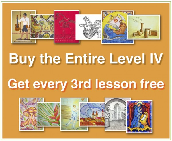 ENTIRE Level IV (Online Art Lessons for Kids | ArtAchieve)