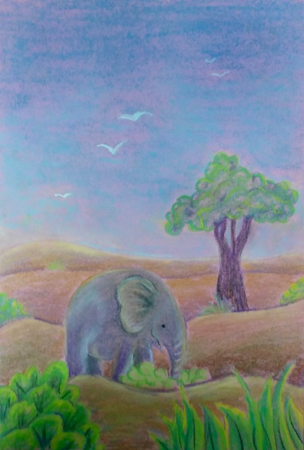 Level II-Art Lesson 7: The Sri Lankan Landscape with an Elephant